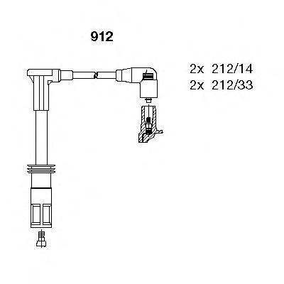 Комплект проводов зажигания BREMI 912