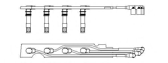 Провода высоковольтные комплект BREMI 968G100