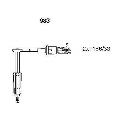 Провода высоковольтные комплект BREMI 983