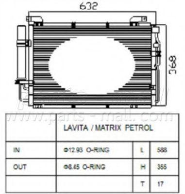 Конденсор кондиционера PMC PXNCA-009