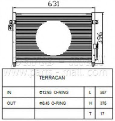 Радиатор кондиционера PMC PXNCA016