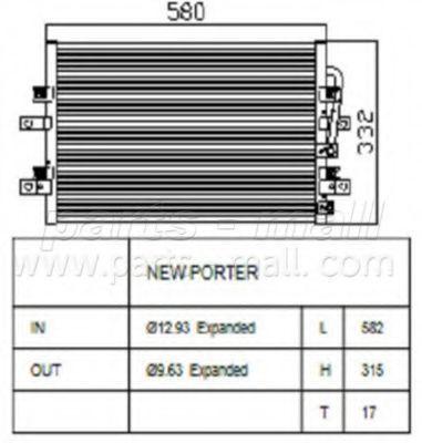 Конденсатор, кондиционер CAR-DEX PXNCA050