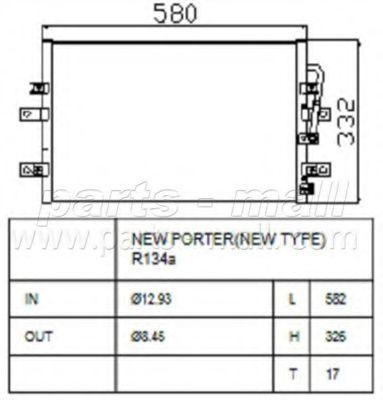 Конденсатор, кондиционер CAR-DEX PXNCA056