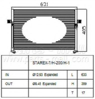 Радиатор кондиционера PMC PXNCA064