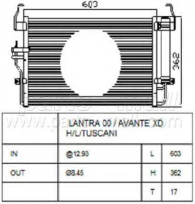 Радиатор кондиционера PMC PXNCA072