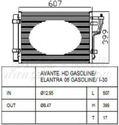 Радиатор кондиционера PMC PXNCA-082