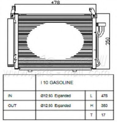 Радиатор кондиционера PMC PXNCA100