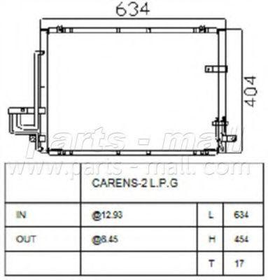 Радиатор кондиционера PMC PXNCB021