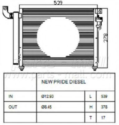 Радиатор кондиционера PMC PXNCB049