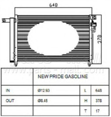 Радиатор кондиционера PMC PXNCB-050