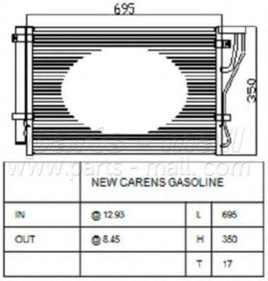 Радиатор кондиционера PMC PXNCB075