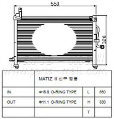 Радиатор кондиционера PMC PXNCC-006