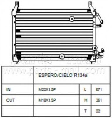 Радиатор кондиционера PMC PXNCC-008