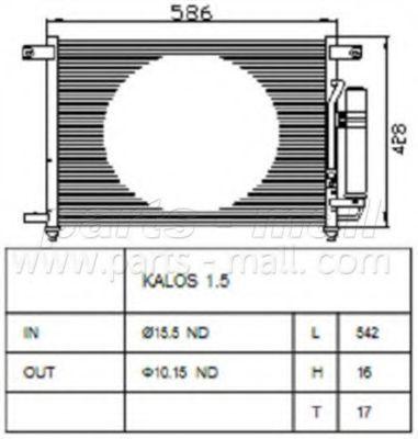 Радиатор кондиционера PMC PXNCC-019