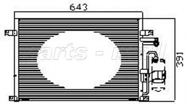 Радиатор кондиционера PMC PXNCC039