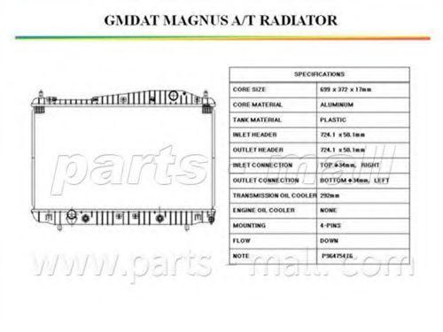 Радиатор охлаждения PMC PXNDC012