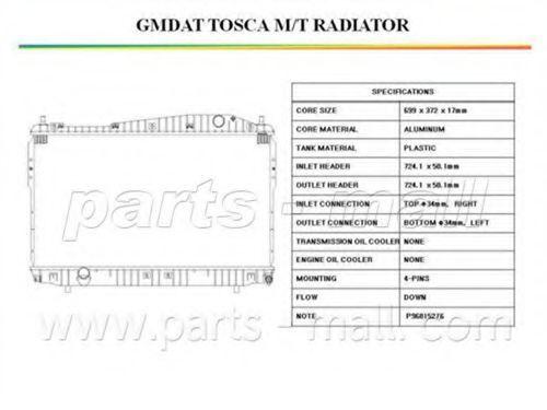 Радиатор охлаждения PMC PXNDC-031