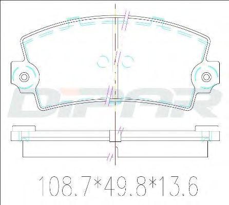 Комплект тормозных колодок, дисковый тормоз DITAS DFB1148