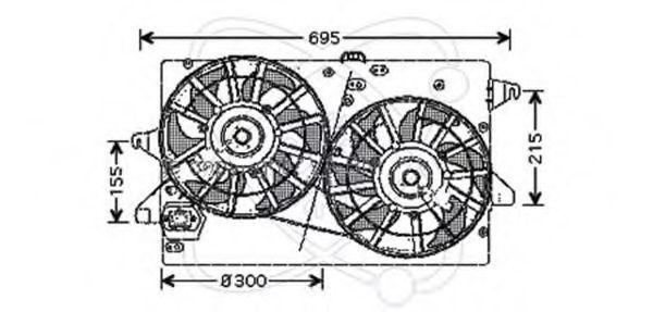 Вентилятор, охлаждение двигателя ELECTRO AUTO 32VG004