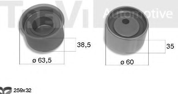 Комплект ремня ГРМ TREVI AUTOMOTIVE KD1376