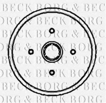 Барабан тормозной BORG & BECK BBR7002