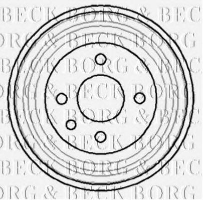 Барабан тормозной BORG & BECK BBR7040