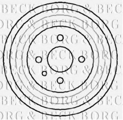 Тормозной барабан BORG & BECK BBR7041