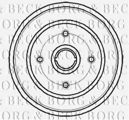Барабан тормозной BORG & BECK BBR7044