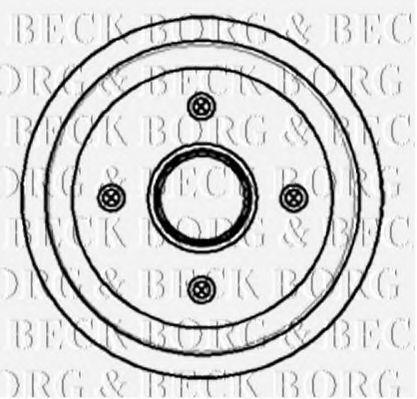 Барабан тормозной BORG & BECK BBR7055