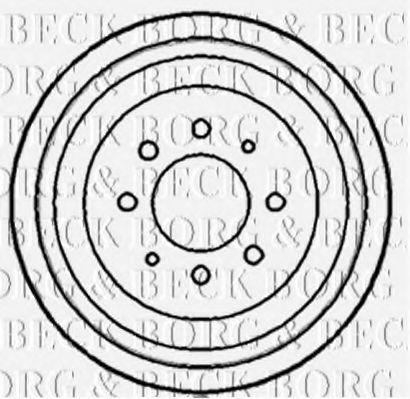 Барабан тормозной BORG & BECK BBR7076