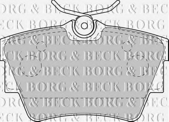 Колодки тормозные BORG & BECK BBP1813
