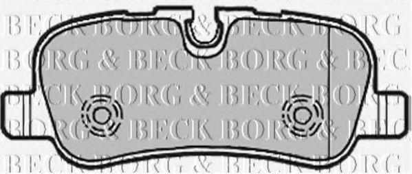 Колодки тормозные BORG & BECK BBP1941