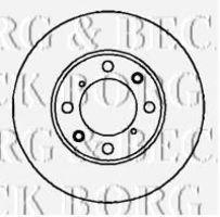 Тормозной диск BORG & BECK BBD4093