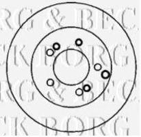 Диск тормозной BORG & BECK BBD4366