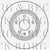 Диск тормозной BORG & BECK BBD4635