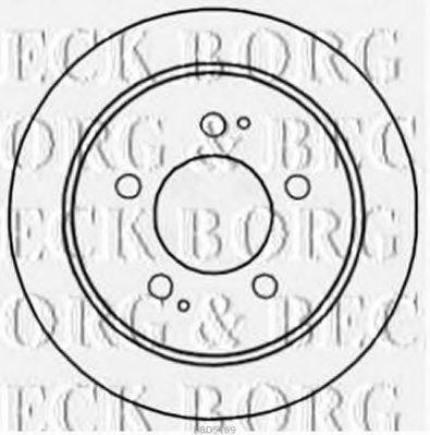 Диск тормозной BORG & BECK BBD5169