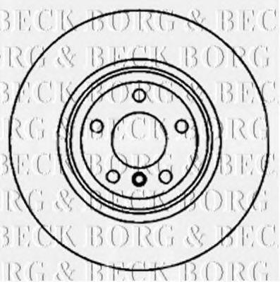Диск тормозной BORG & BECK BBD5825S