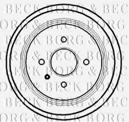 Барабан тормозной BORG & BECK BBR7127