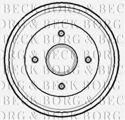 Барабан тормозной BORG & BECK BBR7141