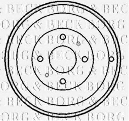 Барабан тормозной BORG & BECK BBR7148