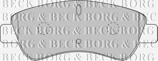 Колодки тормозные BORG & BECK BBP1703