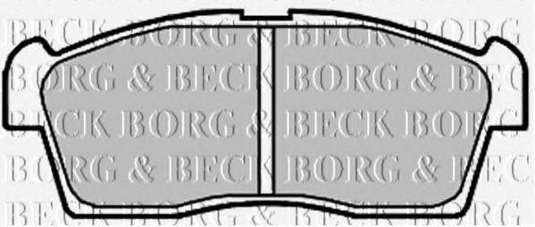 Колодки тормозные BORG & BECK BBP2009