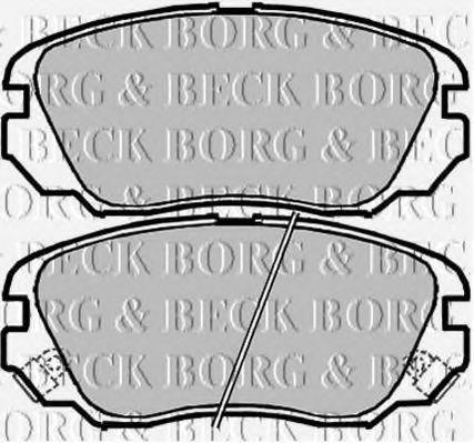 Колодки тормозные BORG & BECK BBP2048