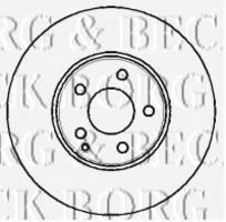 Диск тормозной BORG & BECK BBD4344