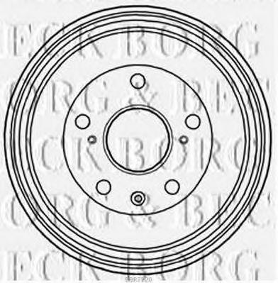 Тормозной барабан BORG & BECK BBR7220