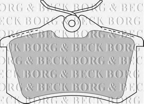 Колодки тормозные BORG & BECK BBP1512
