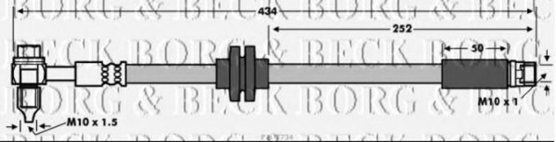 Тормозной шланг BORG & BECK BBH7734