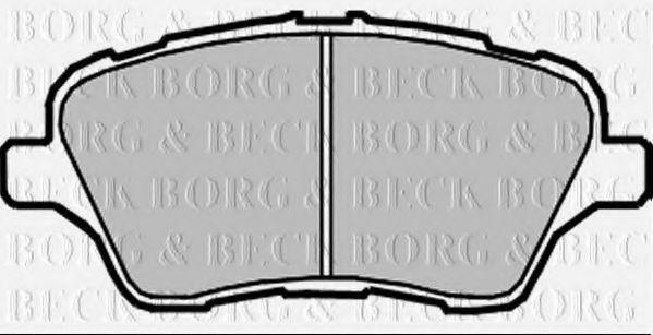 Колодки тормозные BORG & BECK BBP2379