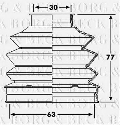Пыльник, приводной вал BORG & BECK BCB6195