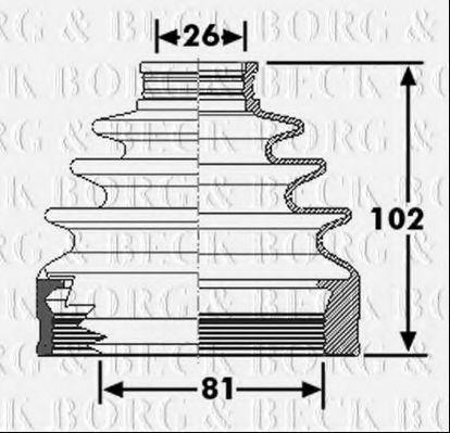 Пыльник, приводной вал BORG & BECK BCB6267